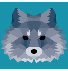 Dark blue low poly fox vector