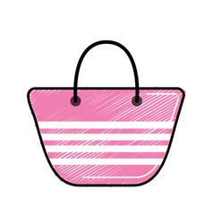 Fashion purse to be in the beach vector