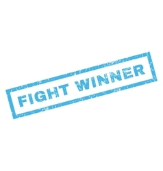 Fight winner rubber stamp vector