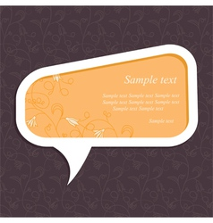 floral speech bubble3 vector image