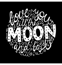 font for moon black background vector image vector image
