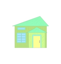 Green small cottage icon cartoon style vector image
