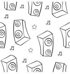 Hand draw sound pattern style vector