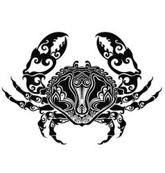 hand drawn crab vector image vector image