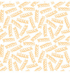 hand drawn pasta fusilli seamless pattern vector image