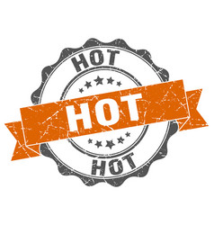 Hot stamp sign seal vector