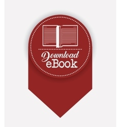 Isolated label of ebook design vector image