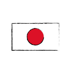 Japan flag emblem country symbol vector