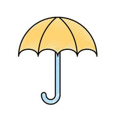 Little umbrella isolated icon vector
