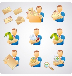 mails users vector image