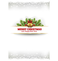 merry christmas vintage card background vector image