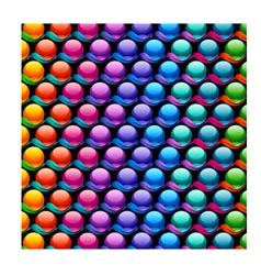 Mosaic bubble background vector