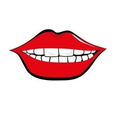 Mouth pop art icon vector
