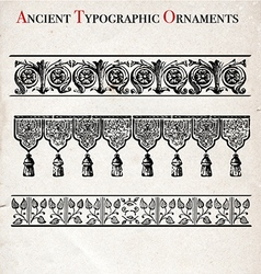Old typographical ornaments vector