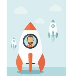 On- line business start up vector image