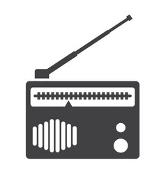 Radio solid icon fm and communication vector