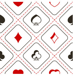 Seamless pattern with playing cards symbols vector
