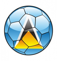 St Lucia flag on soccer ball vector image vector image