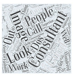 What calls for an image consultant word cloud vector