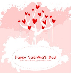 Valentine day pink love invitation card vector