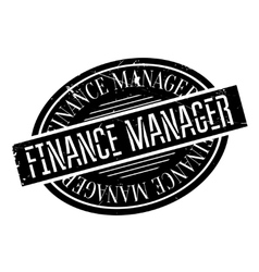 Finance manager rubber stamp vector
