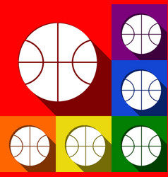 basketball ball sign   set of vector image