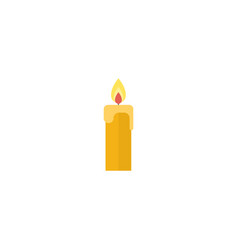 Flat candle element of flat vector