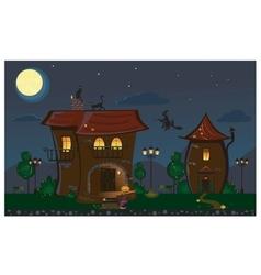 Halloween street vector