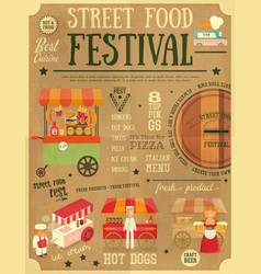 Street food festival vector