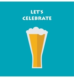 Celebration invitation with glass of beer vector