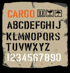 cargo font vector image