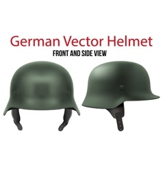 Military german helmet of ww2 vector