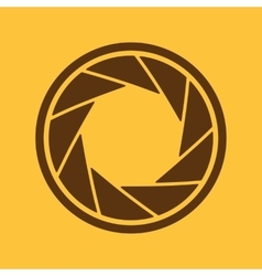 The diaphragm icon Aperture symbol vector image