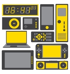 electronic gadgets icon set vector image