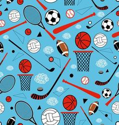 Color graphic pattern sporting goods vector