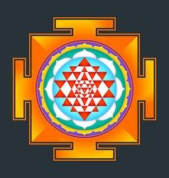 Colored sri yantra vector