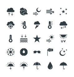 Weather cool icons 2 vector