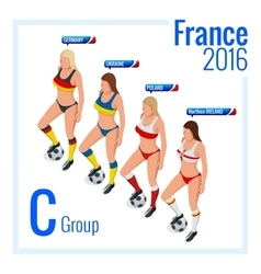European football championship in france group c vector
