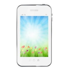 A ecologic mobile phone concept vector image vector image