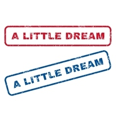 A Little Dream Rubber Stamps vector image