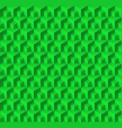 Abstract geometric background with cubes in green vector
