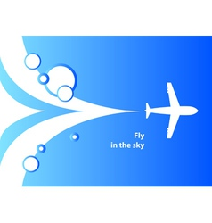 Airplane background vector