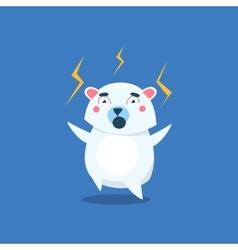 Angry polar bear vector