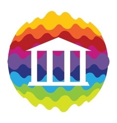 Bank rainbow color icon for mobile applications vector
