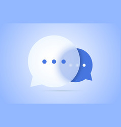 Chat with speech bubble vector