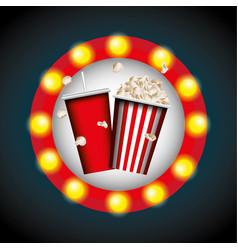 Cinema entertainment elements icon vector
