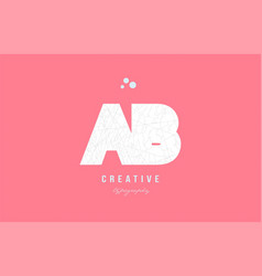 Design of alphabet letter logo ab a b combination vector