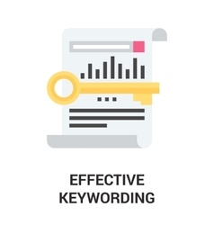 Effective keywording icon concept vector
