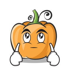 Eye roll pumpkin character cartoon style vector