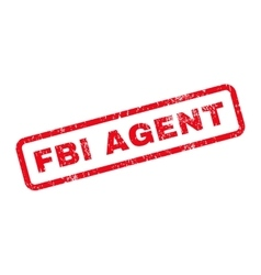 Fbi agent text rubber stamp vector